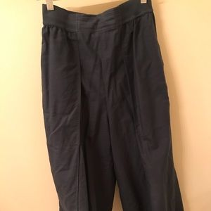 Uniqlo and Lemaire navy cropped elastic pants